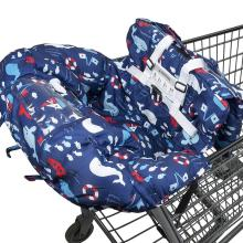 Синий кит дельфин 2в1 Детское покрывало для магазиннной тележки и покрывало на стульчик для кормления