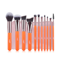 MSQ 11pcs Makeup Brushes Set Rose Gold Aluminium Make Up Brush High Quality Synthetic Hair