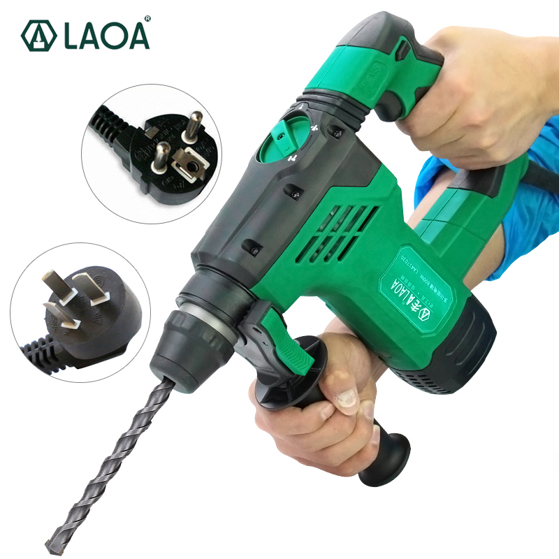 цена на LAOA 3 in 1 Electric Drills 800W Rotary Electrical Hammer 30mm Impact Drills Power Drill for Wall Concrete Ceramic Drilling