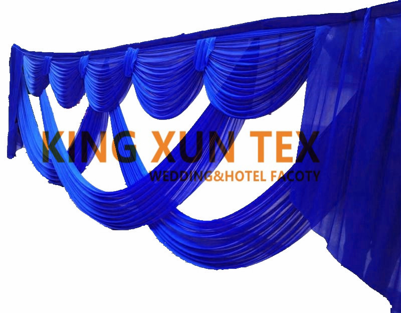 6m Long Ice Silk Backdrop Swag Drape Valance For Stage Background Backdrops Decoration