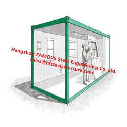 Китайский производитель плоский емкость для жидкостей единиц доставка контейнер преобразования дома мобильные и парк дома