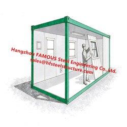 China Fabrikant Flat Pack Eenheden Verzending Container Conversie Woningen Mobiele En Park Woningen