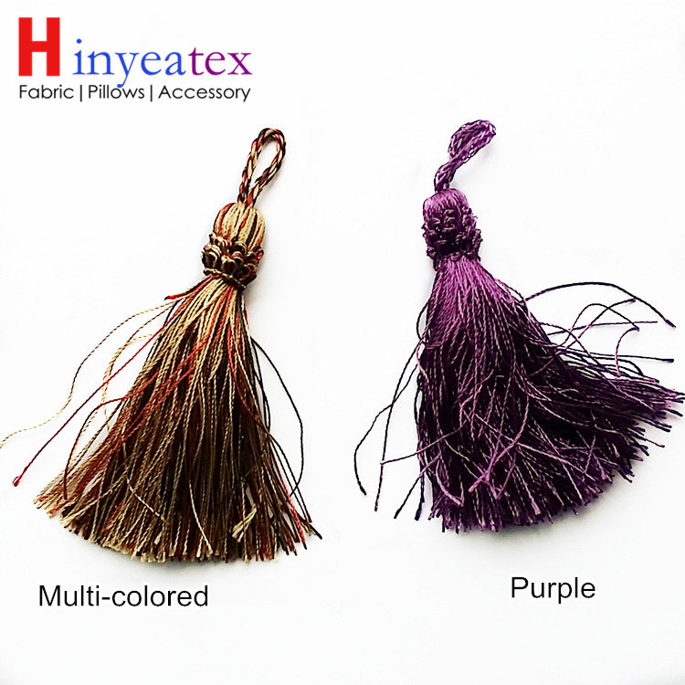 2 Colors Small Tassel Curtain Cushion Cover Table Runner Door Decorative Accessories 11.5 cm Length Sell by 5 pieces per bale