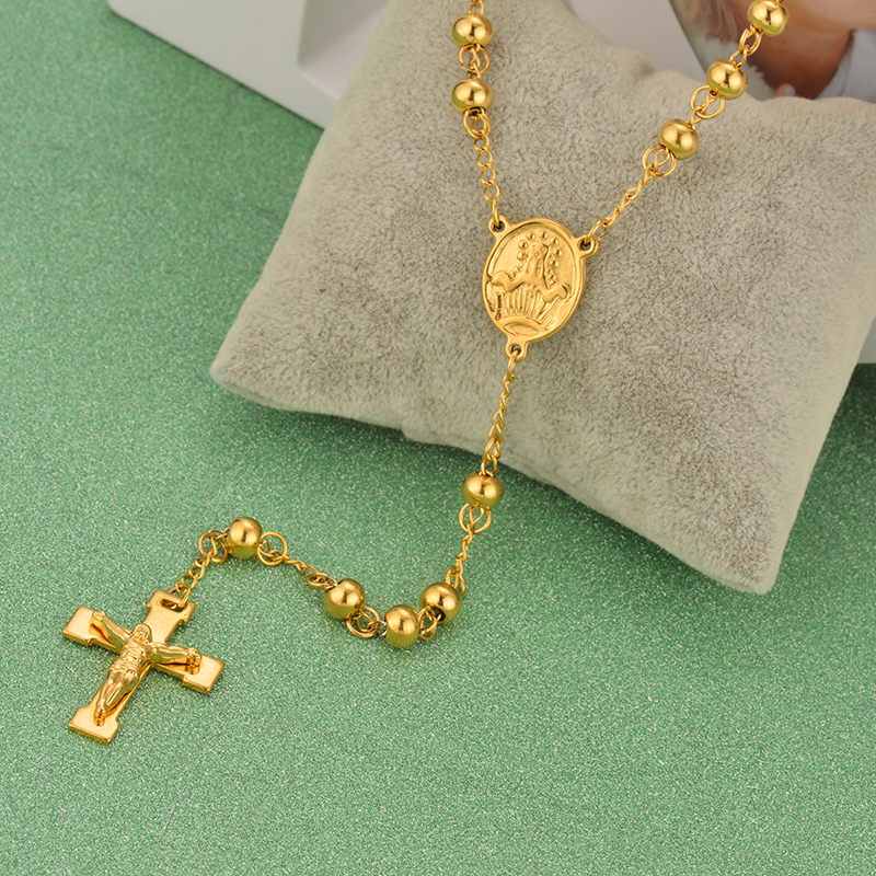 Brand New Gold Color Bead Stainless Steel Necklaces & Pendants For Women Hot Sale Fahion Jewelry Statement Necklace 2016