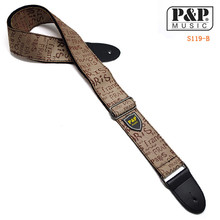 P&P Guitar Strap Adjustable Comfortable Acoustic Electric Folk Bass Guitar,Leather Head Guitar Strap Free Shipping S119