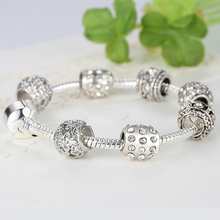 Fashion Women Crystal Bead Charm Bracelet