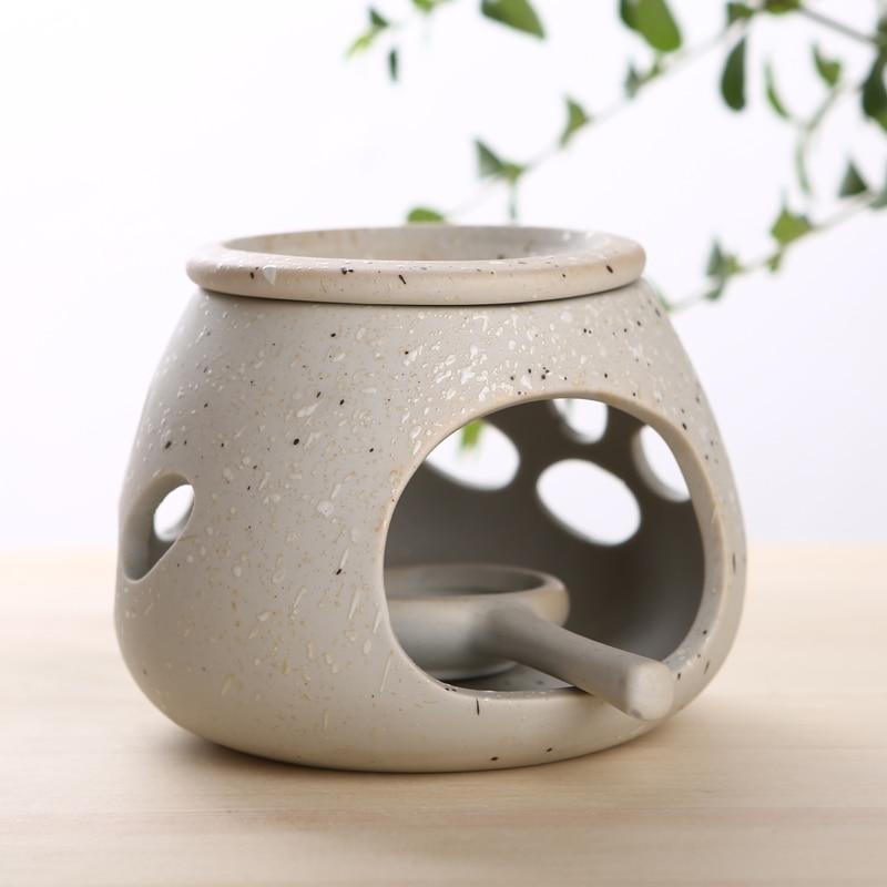 Retro Censer Ceramic Tea Sweet Lamp Aing Kind Aroma Stove Scent Essential Oil Burner