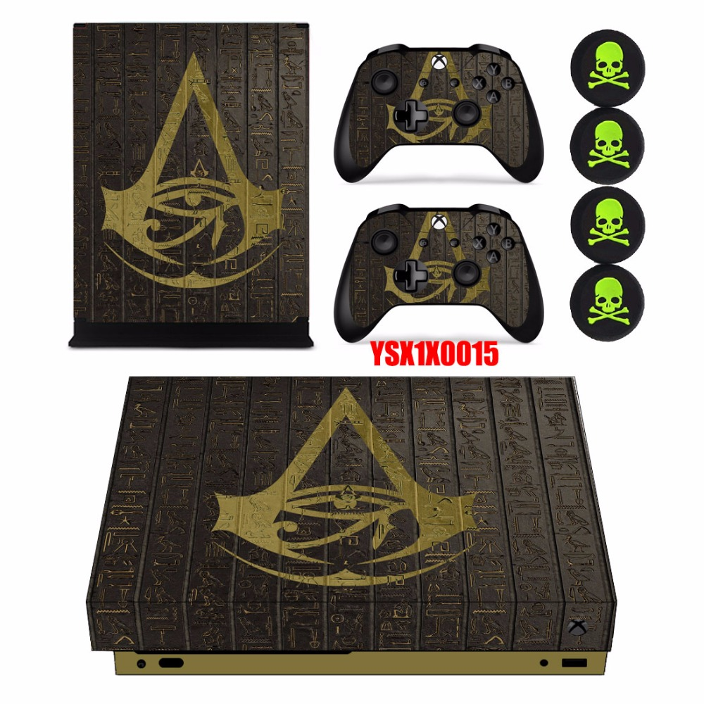 Assassins Creed Unity Skin Vinyl Protective Sticker Decal and 4x Thumbsticks Silicone Ca ...