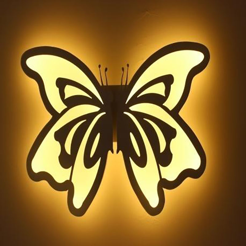16W butterfly shape LED wall lamp bedside lamp modern living room corridor hallway stairs lights Pathway Sconce Lighting