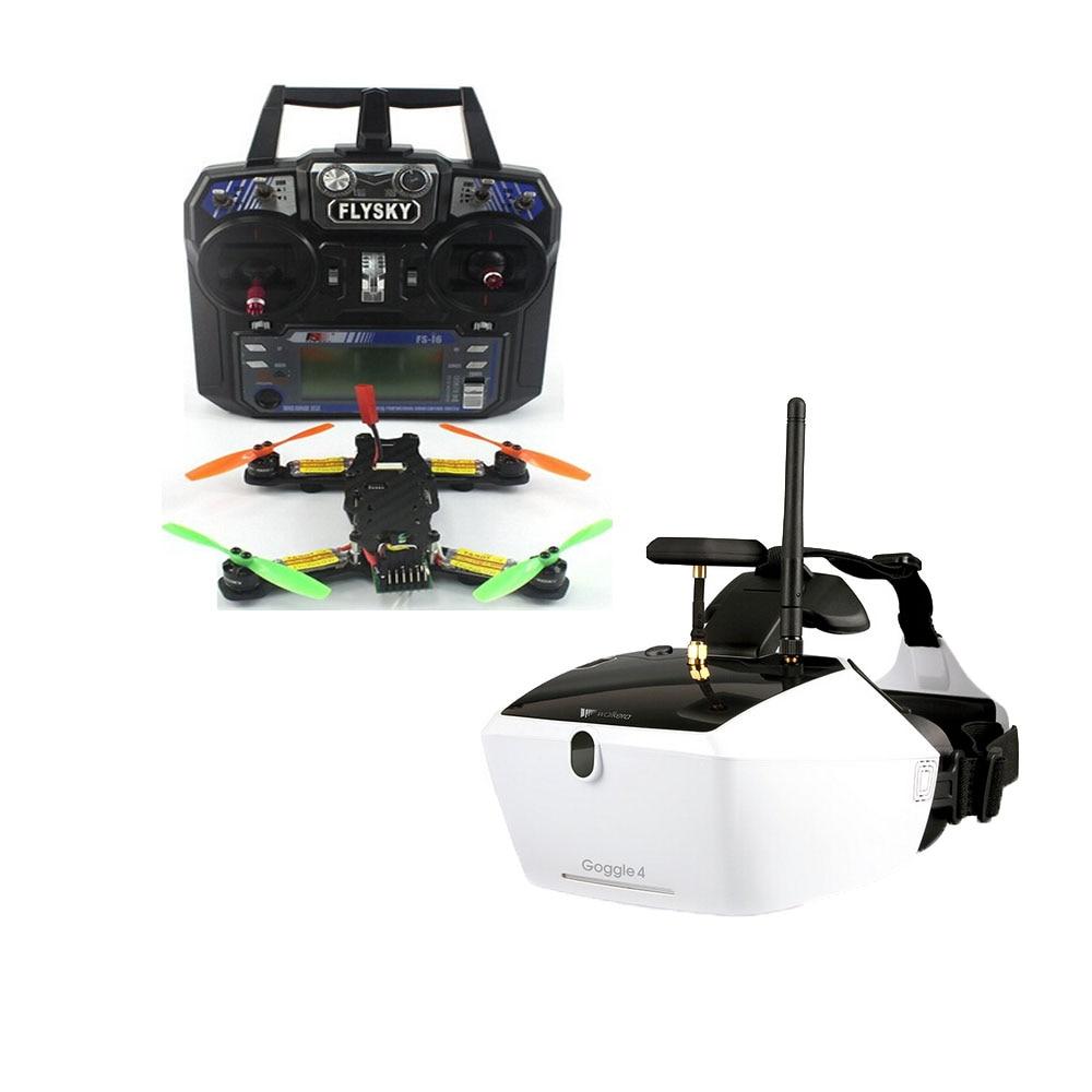 5.8G 40CH FPV 2.4G 6CH RC Mini Racer Quadcopter Drone Tarot 130 RTF Full Kit TL130H1 Walkera Goggle 4 520TVL Camera F17840-E/F