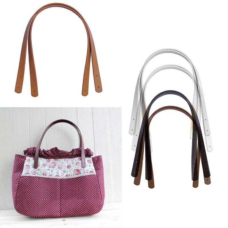 One Pair 55cm Long Women Girls Detachable PU Leather Bag Strap Belt Handle Shoulder Bag Accessories Belt Handbag Band