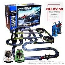 Детский Электрический рельсовый автомобиль железная дорога игрушка двойной Радиоуправляемый поезд наборы игрушек железные дороги двойной гоночный пульт дистанционного управления игрушка подарок