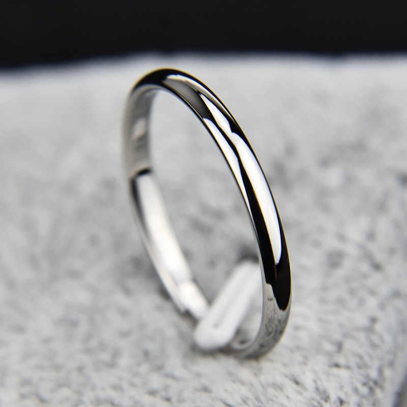 2019 New Titanium Steel Rose Boys Gold Anti-allergy Smooth Simple Wedding Couples Rings