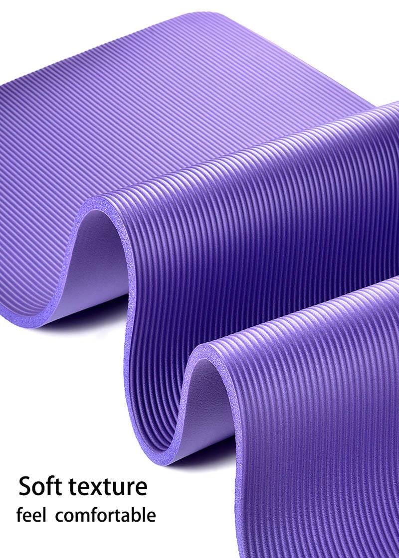 NBR Yoga Mat  15mm Thickness Slim Yoga Mats Non-slip Tasteless Fitness Esterilla Pilates Home Exercises Gym Sport Pad 8