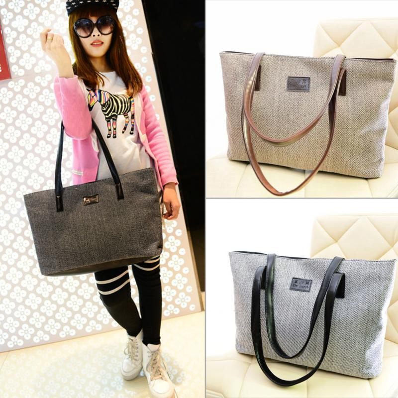 Women Bags Canvas Large Capacity vintage design bag Shopping Handbag Ladies Casual Shoulder Crossbody Bags clutch casual style print and canvas design satchel for women