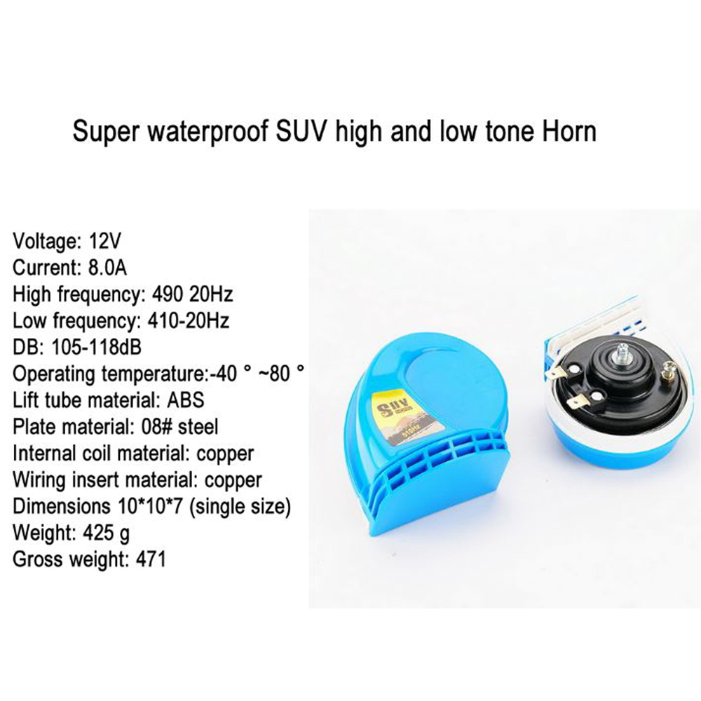 nice price waterproof suv blaring blues automotive waterproofs motorcycle speakers high and low tone horncar with [ 1000 x 1000 Pixel ]