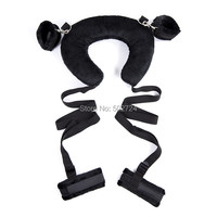 Adult Games Comfortable Sex Positioning Bandage Belt With Soft Easy Pillow Hand Feet Wrist Toy For