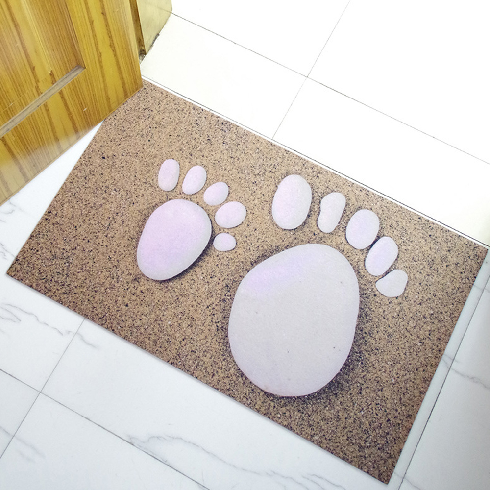 MDCT Baby Foot Cobblestone Floor Mats Rubber Entrance Welcome ...
