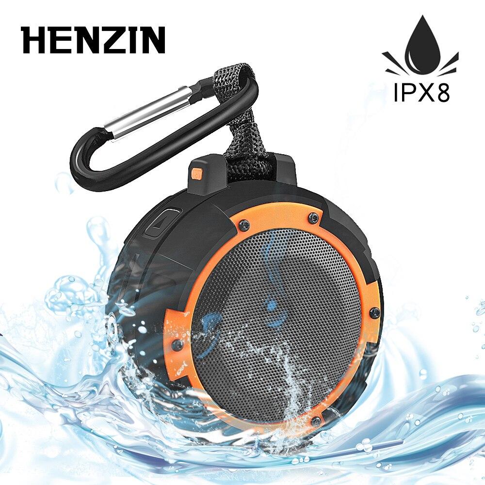 Haut-parleur extérieur Portable Bluetooth étanche IPX8 5W1500mAh LED HiFI sans fil haut-parleur w support ventouse pour Sports de plein air