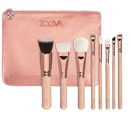ZOEVA 8pcs ROSE GOLDEN LUXURY SET VOL 2 Makeup Brush