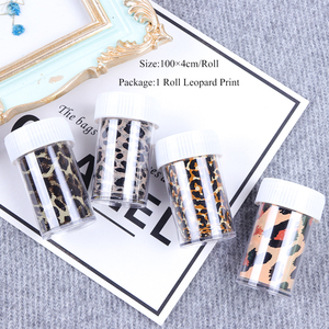 Image 5 - 1 Roll Leopard Print Nail Foil Transfer Slider Sticker Animal Starry Adhesive Nail Wrap Decal 3D Decoration Tips Manicure CH730