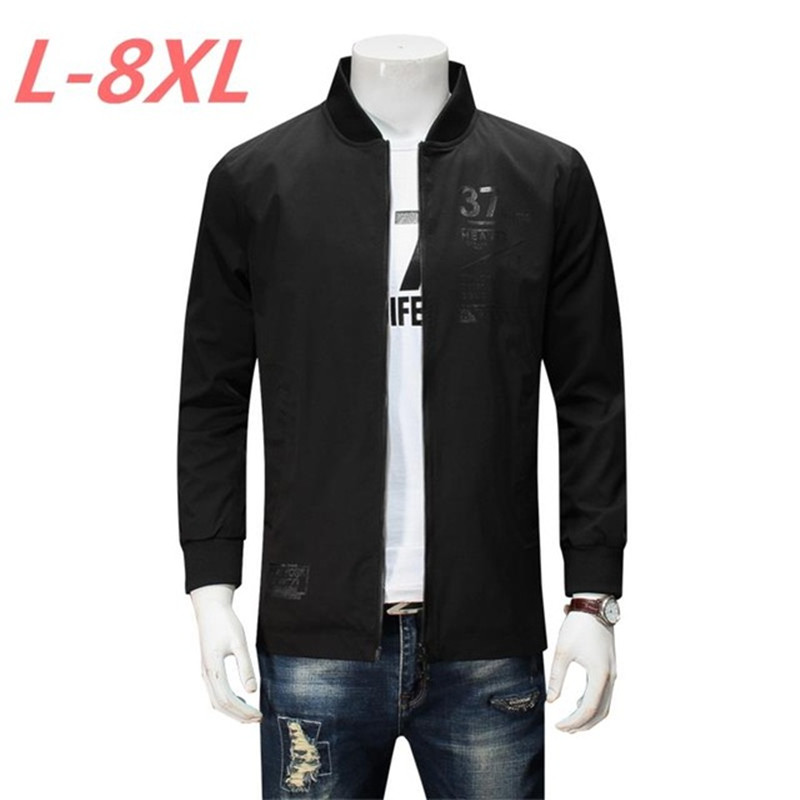 2018 New 10xl 9xl 8xl 7xl 6xl Arrival Spring Autumn Men Jackets Solid Fashion Brand Coats Male Casual Slim Jacket Men Outerdoor Durable In Use