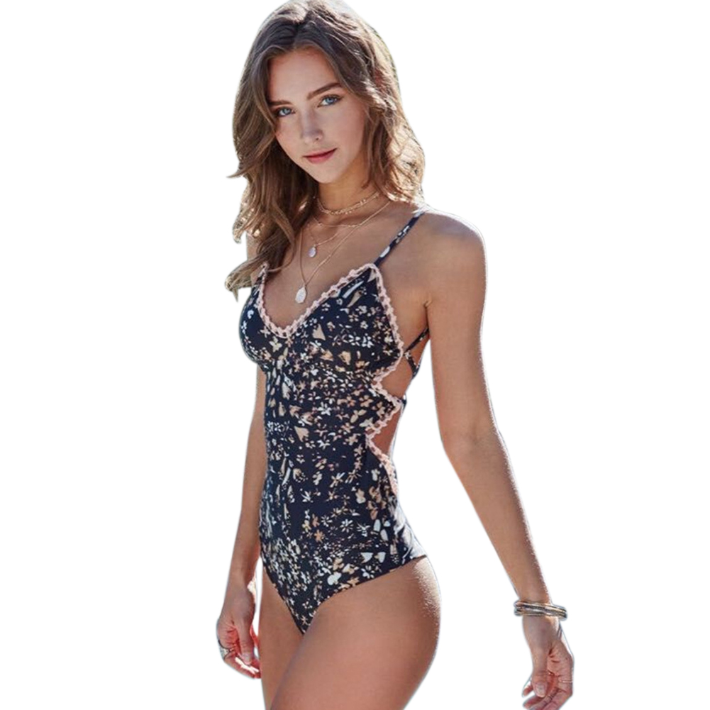 2018 Swimwear Women Bodysuit Swimsuit Flower Push Up brazilian Monokini bathing suit maillot de bain femme plavky Beachwear