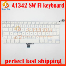 "A1342 SW FI keyboard for macbook 13.3"" A1342 Finnish Swedish Finland Sweden keyboard 2009 2010year MC207 MC516"
