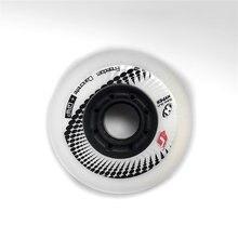 8pcs original ásia edição hiper + g patins inline 80mm roda preto branco h + g liberdade concreto aperto limitado roda com ILQ-11 84a