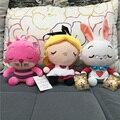 20 cm Anime Alice Alice In Wonderland 2 de Peluche de Juguete Lindo Cheshire Cat Blanco Conejo Muñeca de Peluche de Juguete de Peluche Dulce Coleccionables muñeca