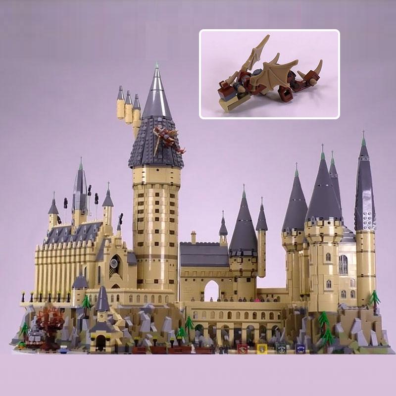 Lepin 16060 Harry Movie Potter Series Hogwarts Castle Set Building Blocks Bricks Kids Toys House Model Compatible Legoing 71043