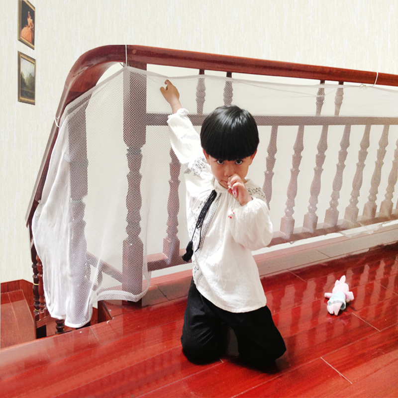 Solid Baby Large Size Safety  Railnet Gate Net  For Stairs Child Guard Kids Baby Stair Balcony Deck Gate Doorways Mesh