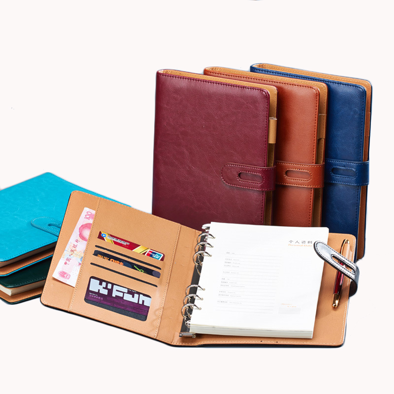 Business Notepad A6 loose-leaf notebook stationery office supplies A5 leather planner custom logo buy 2 to send 1 pen Business Notepad A6 loose-leaf notebook stationery office supplies A5 leather planner custom logo buy 2 to send 1 pen