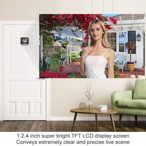 Image 5 - 2.4 بوصة جرس الباب الرقمي LCD اللون حامل شاشة للرؤية الليلية فيديو ثقب الباب المشاهد جرس باب ذكي كاميرا جرس الباب للمنزل