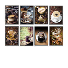 Diy 5d Diamond Coffee Cup Round Mosaic Picture Embroidery Pattern Handmade Childrens Gifts