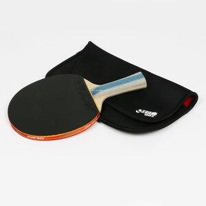 Image 2 - DHS 6002 טניס שולחן מחבט עם כיסוי טניס גומי מקצועי אימון פינג פונג מחבטי ההנעה חג המולד מתנה