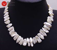 Ожерелье женское из натурального жемчуга 12 15 мм 17 дюймов