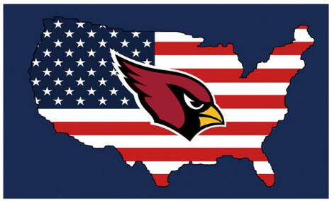 Arizona Cardinals Double Side Digital Print Sports Banners Car Flags 30*45 cm 100D Polyester ...