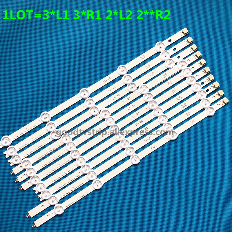Computer & Office New 5set=50 Pcs R1 L1 R2 L2 Led Strip Perfect Replacement For Lc420due 42ln5400 6916l-1385a 6916l-1386a 6916l-1387a 6916l-1388a Punctual Timing