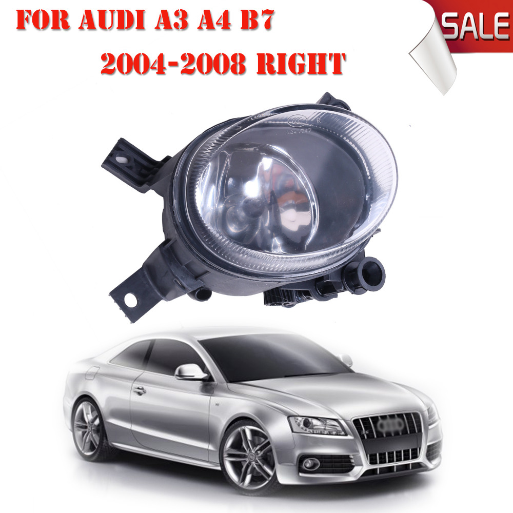 Right Side Front Fog Light HeadLight For Audi A3 S3 S line A4 B7 2004 2005 2006 2007 2008 OEM 8E0941700 Car Accessory #P318-R free shipping for vw polo 2005 2006 2007 2008 new front left side halogen fog light fog light with bulb