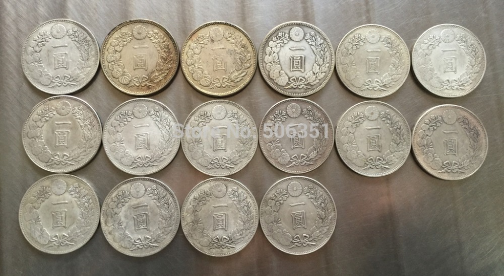 FREE SHIPPING wholesale Japan 1 Yuan <3year -29year > 16 coins copy 100% coper manufacturing