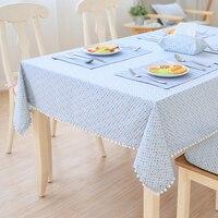 จัดส่งฟรีกลางแจ้งผ้าฝ้ายและผ้าลินินผสมที่มีสีสันผ้าปูโต๊ะอาหารค่ำกาแฟโต๊ะน้ำชาผ้าตู้ป...