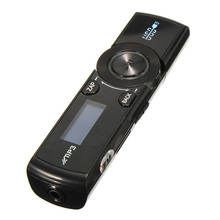 цена на LCD USB MP3 Player FM Radio Player Support 16GB Micro SD / TF Card With Headphones Black