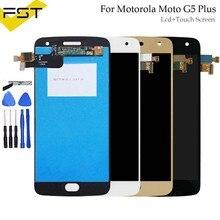 5,2 'для Motorola Moto G5 Plus XT1685 ЖК-дисплей + кодирующий преобразователь сенсорного экрана в сборе для мото G5 плюс дисплей запасные части для ЖК-экран...
