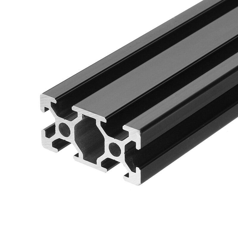 1000mm Lengte Zwart Geanodiseerd 2040 T-slot Aluminium Profielen Extrusie Frame Voor Cnc 3d Printers Plasma Lasers Stands Furnitur Voldoende Aanbod
