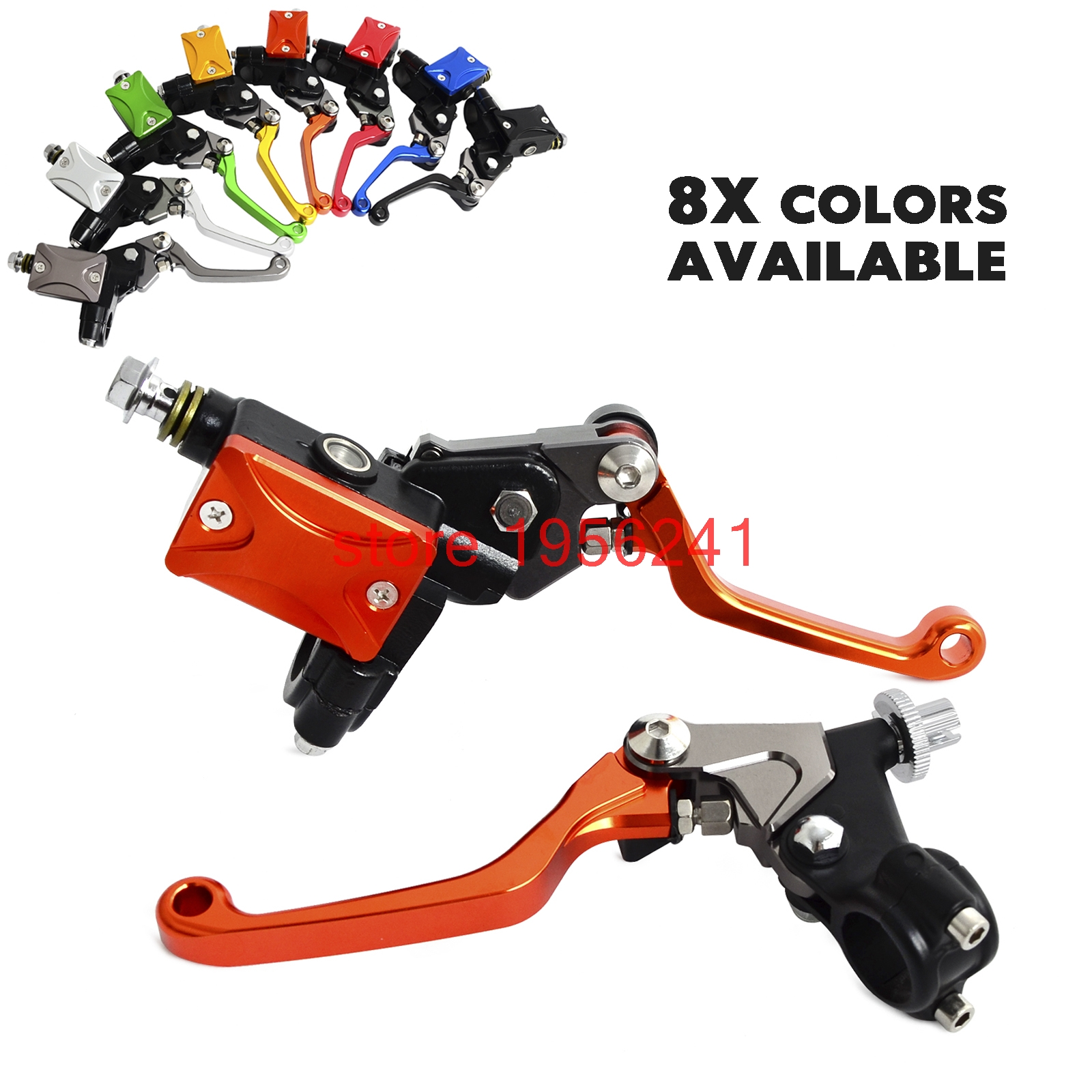H2CNC Hydraulic Brake & Cable Clutch Lever Set Assembly For Honda CRF230F SL230 XR230 XR250 XR400 CRF250L CRF250M CRM250R 7 8 lever brake clutch master cylinder set reservoir for honda crf150r crf250x crf250r crf450r crf450x crf230f sl230 xr250