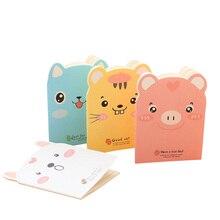 20 unids/lote pequeño cuaderno de papel con forma de cerdo bonito, diario, papelería, suministros para estudiantes