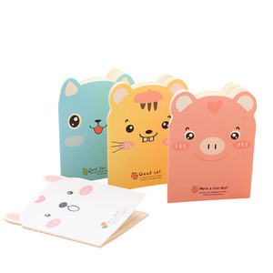 Image 1 - 20pcs/lot Cute Pig shape Small  Notebook Paper Book Diary Notebook Stationery student supplies