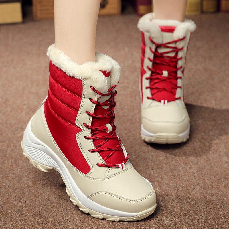 2018 Woman Boots Winter Women Snow Boots Winter Women Keep Warm Shoes Autumn Female Mid-Calf Platform Boots цена