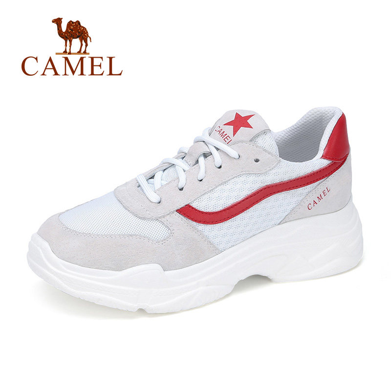 CAMEL New Fashion White Platform Sneakers Women Shoes Mesh Lace Sport Casual Women Soft High Trends Ins Lightweight Female Shoes цены онлайн